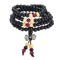 Holz Buddhistische Perlen Armband, buddhistischer Schmuck & unisex & 4-Strang, 6mm, verkauft per ca. 14.5 ZollInch Strang