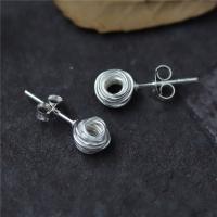Sterling Silber Schmuck Ohrring, 925 Sterling Silber, für Frau, 6.50mm, 5PaarePärchen/Menge, verkauft von Menge