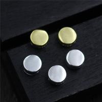 925 Sterlingsilber Schmuckverbinder, 925 Sterling Silber, flache Runde, plattiert, Mehrloch-, keine, 4.80x2.20mm, Bohrung:ca. 1mm, 10PCs/Menge, verkauft von Menge