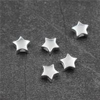 925 Sterling Silber Perlen, Stern, 7.20x7.20mm, Bohrung:ca. 2mm, 10PCs/Menge, verkauft von Menge