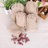 Baumwollgewebe Kordelzugbeutel, mit Hanfgarn, verschiedene Größen vorhanden, 10PCs/Tasche, verkauft von Tasche