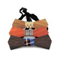 Holz Fliegen, mit Nylonschnur & Baumwolle & Kunststoff, Schleife, verschiedenen Materialien für die Wahl & unisex, 120x45x5mm, verkauft von PC