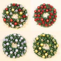 Kunststoff Weihnachtskranz, mit Eisen, Weihnachtsschmuck & verschiedene Größen vorhanden & buntes Pulver, keine, verkauft von PC