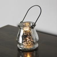 Glas Kerzenhalter, mit Eisen, plattiert, 87x96mm, verkauft von PC