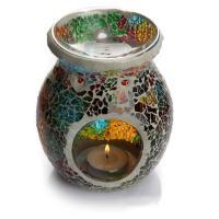 Glas Kerzenhalter, Vase, 105x135mm, verkauft von PC