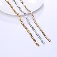 Halskette, Edelstahl, plattiert, Figaro Kette & für den Menschen, keine, 6mm, verkauft per ca. 21.6 ZollInch Strang
