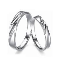 Ehepaar Fingerringe, 925 Sterling Silber, platiniert, offen & einstellbar, Größe:6-10, verkauft von Paar