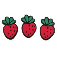 DIY Schmuck, Acryl, Erdbeere, kann auch als Haarschmuck oder Handy DIY Dekoration verwendet werden, 14x22x2mm, 20PCs/Tasche, verkauft von Tasche