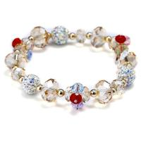 Österreichischer Kristall Armband, mit Ton, für Frau & facettierte, 12mm, verkauft per ca. 6 ZollInch Strang