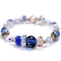 Österreichischer Kristall Armband, mit Ton & Lampwork, für Frau & facettierte, 11mm, verkauft per ca. 6 ZollInch Strang