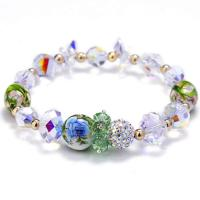 Österreichischer Kristall Armband, mit Ton & Lampwork, für Frau & facettierte, 14mm, verkauft per ca. 6 ZollInch Strang