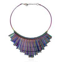 Eisen Halsketten, mit Verlängerungskettchen von 7cm, Spritzlackierung, für Frau, frei von Blei & Kadmium, 80x150mm, verkauft per ca. 17.5 ZollInch Strang
