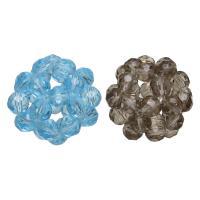 Kristall Cluster Perlenball, facettierte & gemischt, 25-28mm, 5PCs/Menge, verkauft von Menge