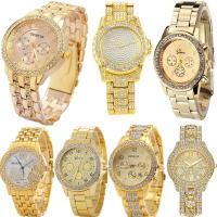 Geneva® Unisex Uhr, Zinklegierung, mit Glas, plattiert, mit Strass, keine, frei von Blei & Kadmium, 41mm, Länge:ca. 9.4 ZollInch, verkauft von PC