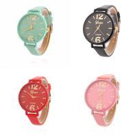 Geneva® Frauenuhr, PU Leder, mit Glas, plattiert, für Frau, keine, 35mm, Länge:ca. 9.3 ZollInch, verkauft von PC