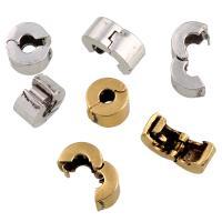 Messing European Clipverschluss, plattiert, keine, frei von Blei & Kadmium, 10x6mm, Bohrung:ca. 2.5mm, verkauft von PC