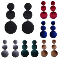Mode Statement Ohrring, Stoff, Edelstahl Stecker, für Frau, keine, 10-38mm, verkauft von Paar