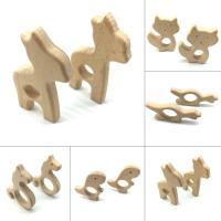 Holz FDA-Zulassung & verschiedene Stile für Wahl, frei von Nickel, Blei & Kadmium, 30-80mm, verkauft von PC