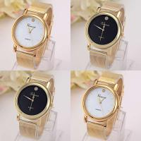 Geneva® Unisex Uhr, Zinklegierung, mit Glas, goldfarben plattiert, keine, frei von Blei & Kadmium, 38mm, Länge:ca. 9.3 ZollInch, verkauft von PC