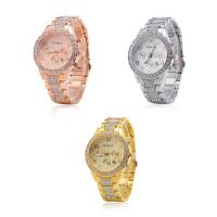 Geneva® Frauenuhr, Zinklegierung, mit Glas, plattiert, für Frau & mit Strass, keine, frei von Blei & Kadmium, 40mm, Länge:ca. 9.4 ZollInch, verkauft von PC