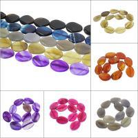Natürliche Streifen Achat Perlen, keine, 27x37x8mm-25x35x7mm, Bohrung:ca. 2mm, 11PCs/Strang, verkauft per ca. 15.3 ZollInch Strang