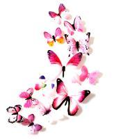 Kühlschrankmagnete, Weich-PVC, mit Magnetische Hämatit, Schmetterling, keine, 60-110mm, 12PCs/Tasche, verkauft von Tasche
