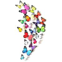Fridge Magnets PVC Plastic Butterfly sticky mixed colors 60-120mm Sold By Bag