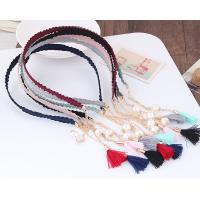 Haarreif, Stoff, mit ABS-Kunststoff-Perlen & Nylonschnur & Zinklegierung, für Frau, keine, 135x120mm, verkauft von PC
