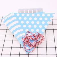 Dekoration Pull Flagge, Papier, mit Satinband, verschiedene Muster für Wahl, Länge:ca. 2.3 m, 10SträngeStrang/Menge, verkauft von Menge