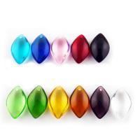 KRISTALLanhänger, Kristall, Pferdeauge, gemischte Farben, 14x23x6mm, Bohrung:ca. 1mm, 10PCs/Tasche, verkauft von Tasche