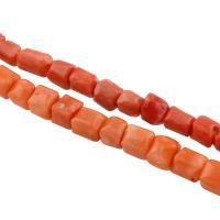 Natürliche Korallen Perlen, verschiedene Stile für Wahl, Bohrung:ca. 1mm, 32PCs/Strang, verkauft per ca. 15.7 ZollInch Strang