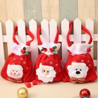 Vliesstoff Christmas Gift Bag, Weihnachtsschmuck & verschiedene Muster für Wahl, 30x19cm, 3PCs/Tasche, verkauft von Tasche