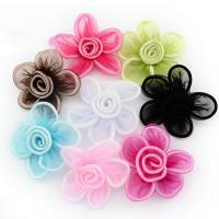 Mode Dekoration Blumen, Gaze, für Kinder, keine, 70mm, 100PCs/Tasche, verkauft von Tasche
