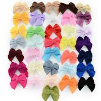Mode Dekoration Blumen, Satinband, Schleife, für Kinder, gemischte Farben, 25x23mm, 1000PCs/Tasche, verkauft von Tasche