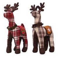 Stoff Weihnachten Rentier-Puppe, Weihnachtselch, verschiedene Muster für Wahl, 50x28cm, verkauft von PC