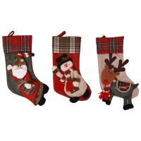Stoff Christmas Sock Puppe, Weihnachtssocke, verschiedene Stile für Wahl, 48x20cm, verkauft von PC