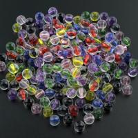 Transparente Acryl-Perlen, Acryl, rund, gemischte Farben, 8mm, Bohrung:ca. 1.5mm, ca. 330PCs/Tasche, verkauft von Tasche