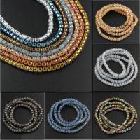 Runde Kristallperlen, Kristall, verschiedene Größen vorhanden & satiniert, mehrere Farben vorhanden, Bohrung:ca. 1mm, verkauft von Strang