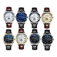 TEVISE® Uhrenkollektion, Kuhhaut, mit Glas & Edelstahl, plattiert, 30 m wasserdicht & stem-Winder & einstellbar & für den Menschen, keine, 41x41x10mm, 29mm, Länge:ca. 9.4 ZollInch, verkauft von PC