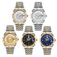 TEVISE® Uhrenkollektion, Edelstahl, mit Glas, plattiert, 30 m wasserdicht & stem-Winder & für den Menschen & mit Strass, keine, 40x40x10mm, 19mm, Länge:ca. 7 ZollInch, verkauft von PC