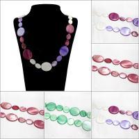 Muschel Pullover Halskette, flachoval, für Frau, keine, 18-30mm, verkauft per ca. 31-32 ZollInch Strang