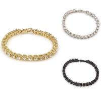 Strass Armband, Messing, plattiert, unisex & mit Strass, keine, frei von Nickel, Blei & Kadmium, 4mm, verkauft per ca. 8 ZollInch Strang
