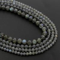 Labradorit Perlen, rund, verschiedene Größen vorhanden, Klasse AB, Bohrung:ca. 1mm, verkauft per 15.5 ZollInch Strang