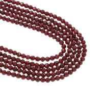 Natürlicher Granat Perlen, rund, verschiedene Größen vorhanden, Bohrung:ca. 1mm, verkauft per 15.5 ZollInch Strang