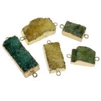 Naturquarz -Anschluss, Eisquarz Achat, mit Zinklegierung, druzy Stil & verschiedene Stile für Wahl & 1/1-Schleife, Bohrung:ca. 2.5mm, verkauft von PC