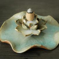 Räucherstäbchen, Porzellan, Lotus, buddhistischer Schmuck, keine, 115x35mm, verkauft von PC