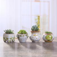 Blumentopf, Porzellan, Vase, Handzeichnung, verschiedene Stile für Wahl, 60x70mm, verkauft von PC