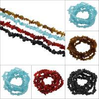 Mode Glasperlen, Glas, gefärbt, keine, 3x5x4mm-11x7x8mm, Bohrung:ca. 1mm, ca. 240PCs/Strang, verkauft per ca. 31.5 ZollInch Strang