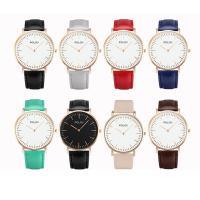POLOV® Collection Uhr, PU Leder, mit Zinklegierung Zifferblatt & Glas & Edelstahl, plattiert, unisex & einstellbar, keine, frei von Nickel, Blei & Kadmium, 40x6mm, Länge:ca. 9 ZollInch, verkauft von PC