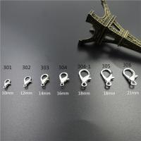 Zinklegierung Karabinerverschluss, plattiert, verschiedene Größen vorhanden, keine, frei von Blei & Kadmium, Bohrung:ca. 1-3mm, 1000PCs/Tasche, verkauft von Tasche